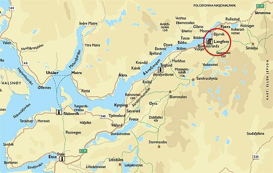 åkrafjorden kart Langfoss.com åkrafjorden kart